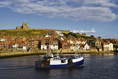 Whitby harbor Stock Photos