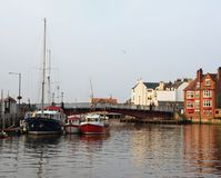 Whitby Harbor Royalty Free Stock Photography
