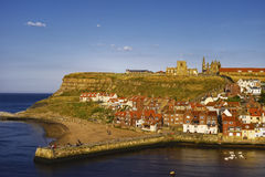 Whitby harbor and abbey Royalty Free Stock Photography