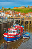 Whitby harbor, East Yorkshire stock photography