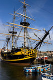 Whitby Harbor - The Endeavor - England Stock Image