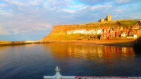 Whitby Harbor In The Spring Royaltyfri Bild