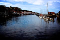 Whitby Harbour Immagine Stock