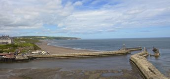 Whitby harbour and bay Stock Image