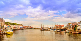 Whitby Harbour Landscape 2017 Photographie stock