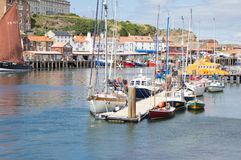 Whitby harbour stock images