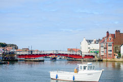 Whitby Harbour swing bridge Stock Photography