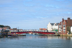 Whitby Harbour swing bridge Royalty Free Stock Images
