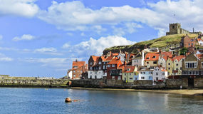 Whitby harbour in Whitby, North Yorkshire, England Stock Photo