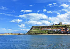 Whitby harbour in Whitby, North Yorkshire, England Royalty Free Stock Photo