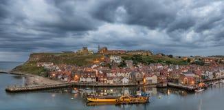 Whitby i Yorkshire England Royaltyfri Bild