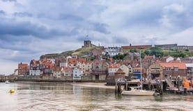 Whitby i Yorkshire England Arkivbilder