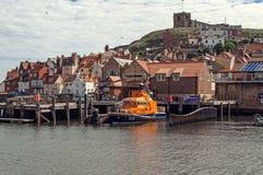 whitby lifeboat Arkivbild