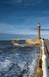 Whitby Lighthouse Royalty Free Stock Photography