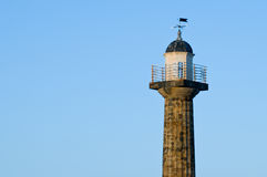 Whitby lighthouse with copy space Royalty Free Stock Photography