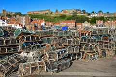 Whitby lobster pots Royalty Free Stock Photography
