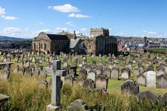 WHITBY NORR YORKSHIRE/UK - AUGUSTI 22: Sikten av hamnen är Fotografering för Bildbyråer