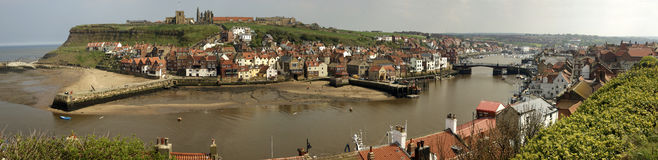 Whitby North Yorkshire. A Panorama photograph of Whitby North Yorkshire Stock Photography