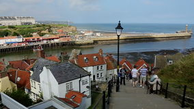Whitby - North Yorkshire - Engeland stock footage