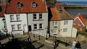 Whitby - North Yorkshire - England. The port of Whitby on the North Yorkshire coast in northeast England stock video footage