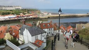 Whitby - North Yorkshire - Inglaterra almacen de video