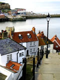 Whitby, North Yorkshire. Looking down to the Harbour from the 99 steps at Whitby, North Yorkshire, Yorkshire, England, UK Royalty Free Stock Photography