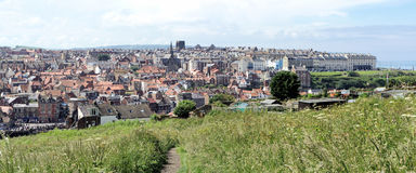 Whitby Panorama Royalty Free Stock Photos