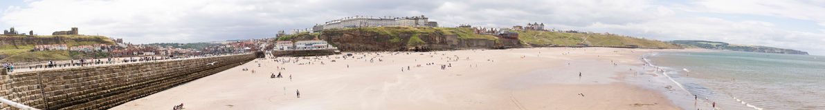 Whitby. Panoramic view at city and harbour Royalty Free Stock Photos