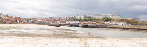 Whitby. Panoramic view at city and harbour Stock Photo