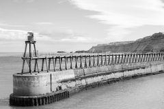 Whitby. Panoramic view at cliffs in Whitby Stock Photography