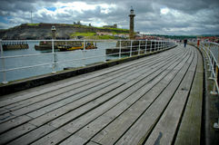 Whitby from the pier Stock Images