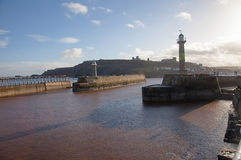 Whitby Pier Royalty Free Stock Photo