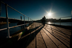 Whitby Pier Stockbild