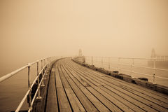 Whitby pier and harbour Stock Photos