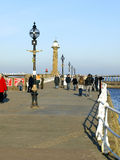 Whitby Pier, North Yorkshire. Stock Photos