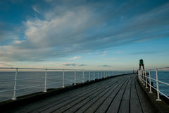 Whitby pier Royalty Free Stock Images