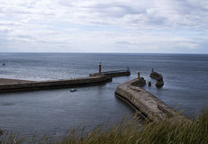 Whitby Piers Royalty Free Stock Image
