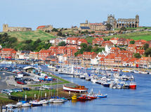Whitby postcard view. Picture postcard view of Whitby, North Yorkshire, UK Stock Photos
