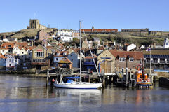 Whitby postcard view Stock Photography