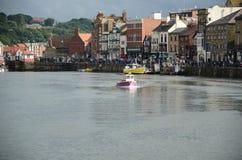 Whitby, puerto pesquero, ciudad costera, costa costa de Yorkshire del norte, Foto de archivo libre de regalías