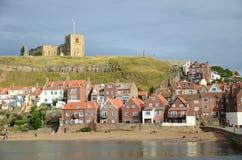 Whitby, puerto pesquero, ciudad costera, costa costa de Yorkshire del norte, Imagen de archivo