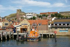 Whitby, puerto pesquero, ciudad costera, costa costa de Yorkshire del norte, Imagenes de archivo