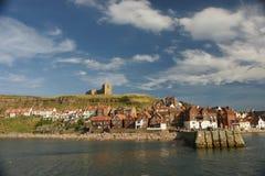 Whitby, puerto pesquero, ciudad costera, costa costa de Yorkshire del norte, Foto de archivo