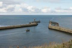 Whitby, puerto pesquero, ciudad costera, costa costa de Yorkshire del norte, Imagen de archivo libre de regalías