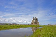 Whitby Abbey - the perfect place. Whitby is a seaside town, port and civil parish in the Scarborough borough of North Yorkshire, England. Whitby Abbey was royalty free stock photos