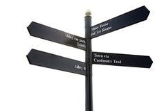 Whitby signpost Royalty Free Stock Photography
