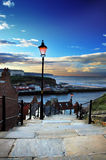 Whitby Steps. The many steps that lead up to Whitby Abbey Stock Photography