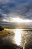 whitby strand Royaltyfri Foto