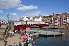 Whitby Swing Bridge Fotos de Stock Royalty Free