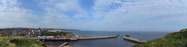 Whitby Town e porto, North Yorkshire, Regno Unito Immagine Stock